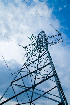 power transmission tower on sky photo