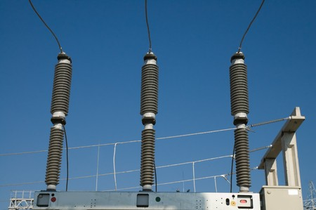 volts: disconnecting switch on high-voltage substation
