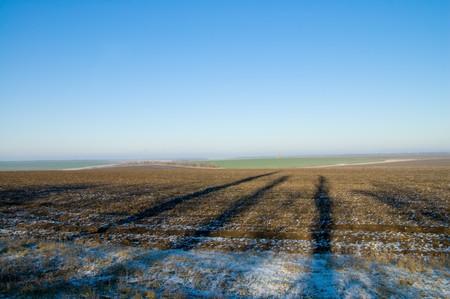 rural winter view to horizon Stock Photo - 4091162