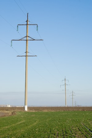 power transmission tower on sky background Stock Photo - 4229422