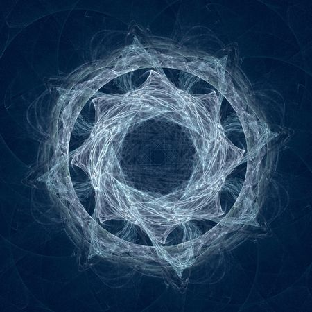 grey circle fractal Stock Photo - 4723266