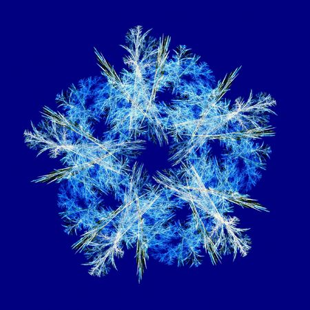 render fractal blue snowflake Stock Photo - 4723267