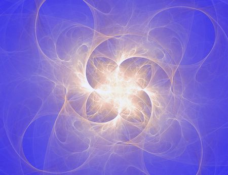 powerful aura: nonhomogeneous model of the Universe. fractal rendered