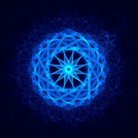 bright blue circle fractal Stock Photo - 4732086