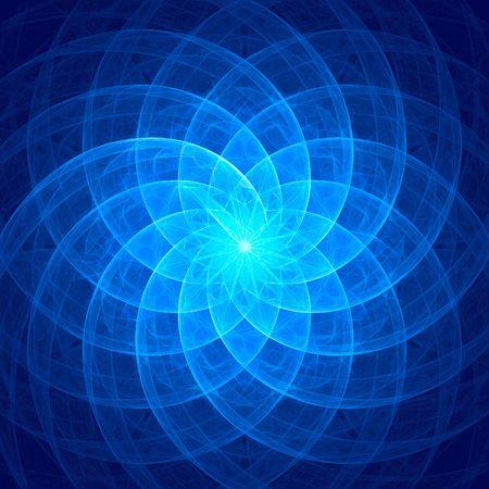 bright blue like flower fractal Stock Photo - 4732077