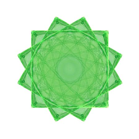 green snowflake on white background. fractal Stock Photo - 4732085