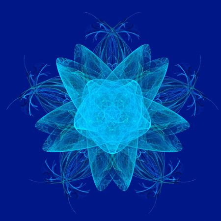 abstract blue snowflake. fractal Stock Photo - 4785037
