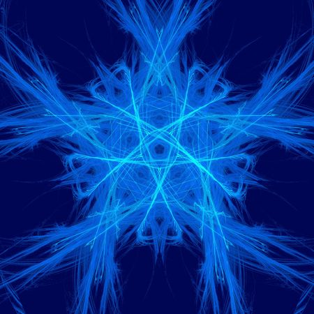 abstract blue star. fractal Stock Photo - 4785056