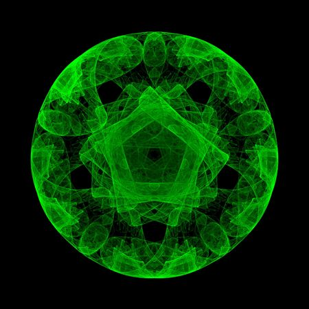 abstract green circle. fractal Stock Photo - 4785043