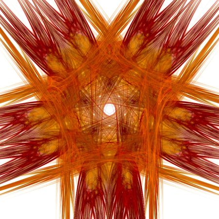 abstract red star. fractal Stock Photo - 4785038