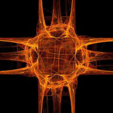 cranky: good abstract figure to background. fractal rendered