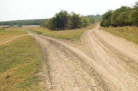 fork in road: two rural roads