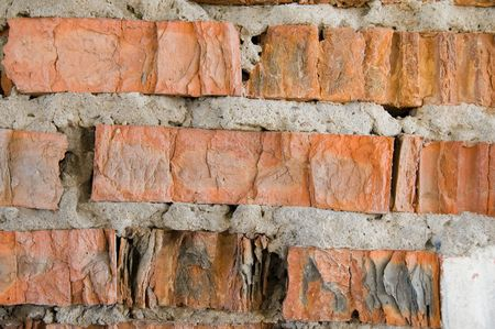 broken red brick wall Stock Photo - 5538801
