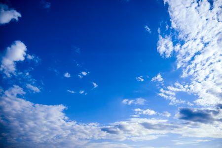 deep blue sky with cloud photo