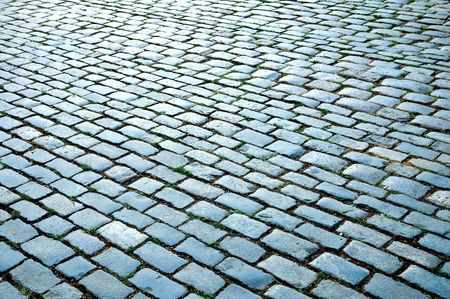 cobbled road as background photo