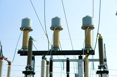view to high voltage substation photo