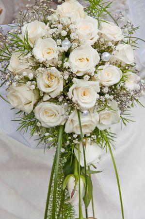 white fine rose in wedding bouquet Stock Photo - 6123518