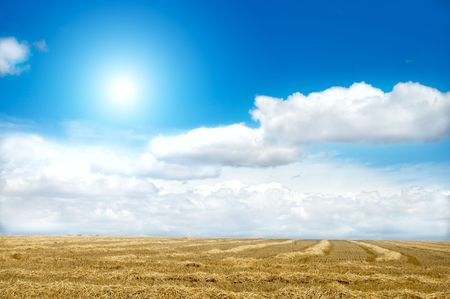 good landscape with sun and clouds Stock Photo - 6521487
