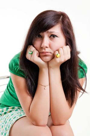 Sad teen girl Stock Photo - 6679507