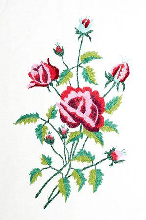 gestickt: Gestickte handmade gut wie Blume
