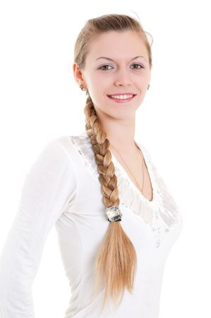 portrait of beautiful blonde with big braid Stock Photo - 6801966