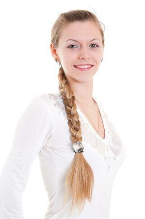 portrait of beautiful blonde with big braid Stock Photo - 6801966