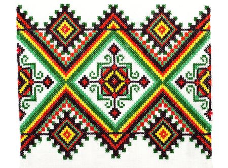 embroidered handmade good by cross-stitch pattern photo