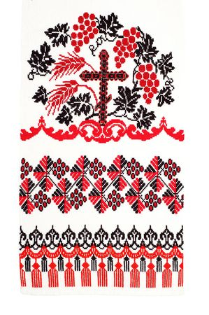 embroidered handmade good by cross-stitch pattern Stock Photo - 6818022