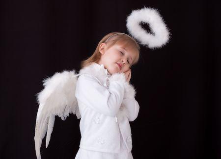 sleeping little angel photo