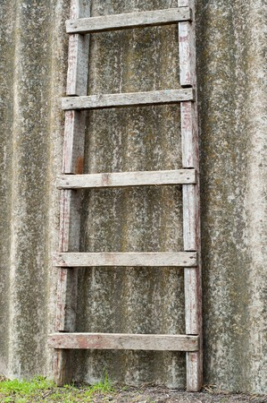 wooden ladder near old roofing slate Stock Photo - 6987353