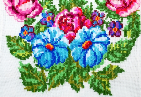 embroidered handmade good by cross-stitch pattern Stock Photo - 7118034