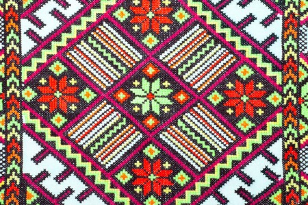 embroidered handmade good by cross-stitch pattern Stock Photo - 7118028