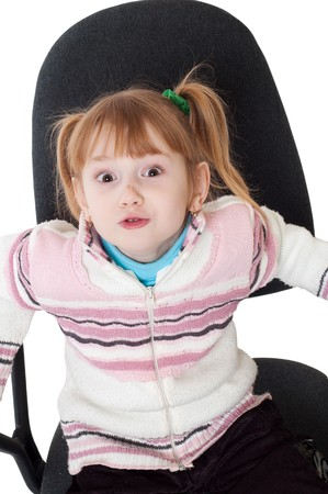 little girl in chair photo