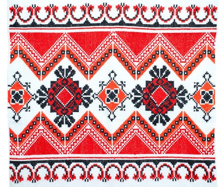 embroidered good by cross-stitch pattern Stock Photo - 7558967