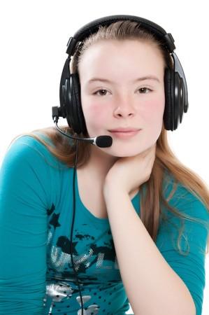 girl with headphones photo