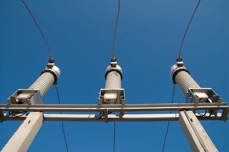 disconnecting switches on high-voltage substation photo