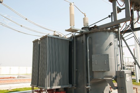 substation: transformer on high voltage substation