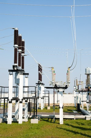 part of high-voltage substation Stock Photo - 7804587