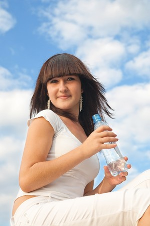 girl with bottle of water Stock Photo - 7804334