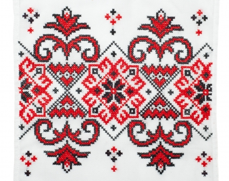 embroidered good by cross-stitch pattern Stock Photo - 7804596