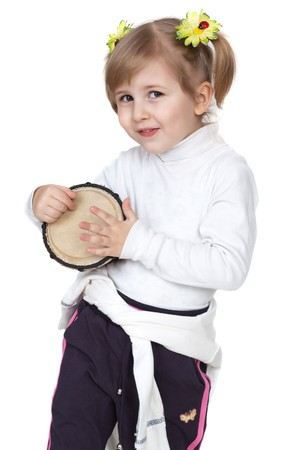 little girl with drum photo