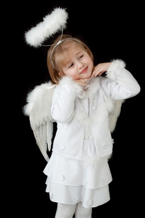 little angel over black photo