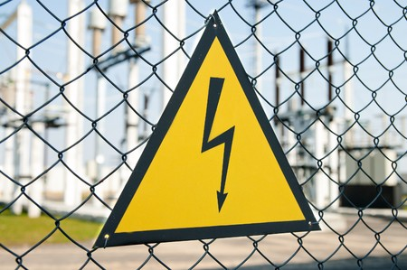 high voltage warning sign Stock Photo - 7972472