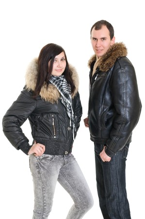 couple dressed for winter photo
