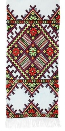 embroidered good by cross-stitch pattern. ethnic colorful pattern photo