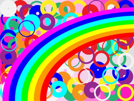 hearty: rainbow and circles Illustration
