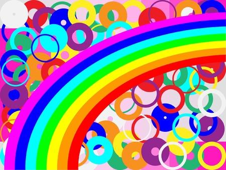 vibrant colors fun: Rainbow e circoli Vettoriali