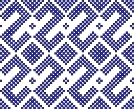 geometric seamless pattern like cross stitch work Vector