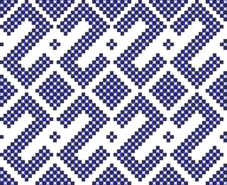 geometric seamless pattern like cross stitch work Stock Vector - 8949236