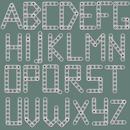 latin alphabet like constructor Stock Vector - 8949228
